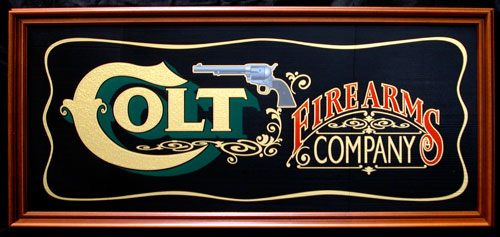 Colt Firearms Antique Sign