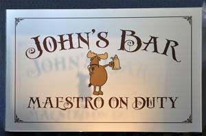 John's Bar Sign