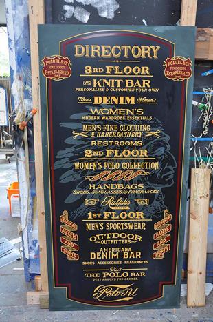 Ralph Lauren Store Sign
