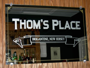 Thom's Place Custom Bar Mirror