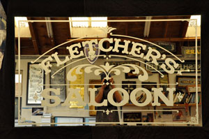 Fletcher's Saloon Sign