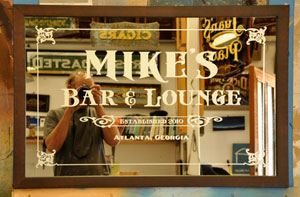 Mike's Bar and Lounge Sign
