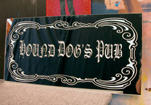 Personalized Bar Sign - Hound Dog's Pub
