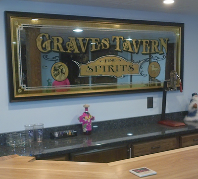 Custom Home Bar Mirror