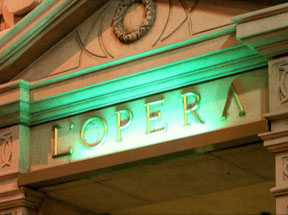 L'Opera Gold Leaf Sign in Los Angeles