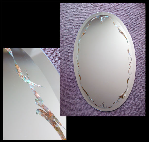 Oval Inlayed Mirror