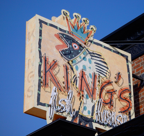 King's Fish House Sign
