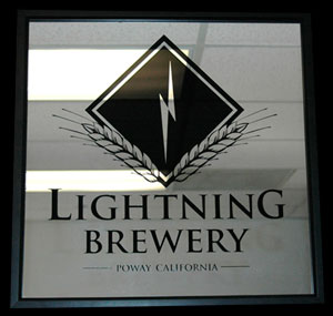 Lightning Brewery Bar Mirror