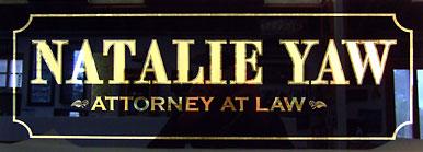 Gold Leaf Sign - Law Office
