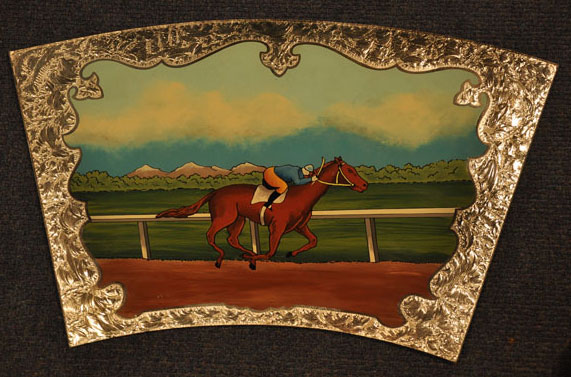 Wheel of Fortune Sign - Horse and Rider